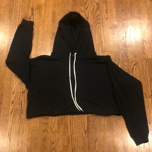 Wild Fable black crop soft hoodie sweatshirt